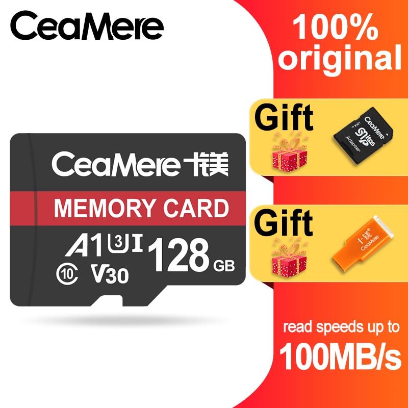 CeaMere Micro SD карта класс 10 UHS 1 8 Гб класс 6 16 Гб/32 ГБ U1 64 Гб/128 ГБ/256 ГБ U3 флэш карта памяти Microsd для смартфона-in Карты памяти from Компьютер и офис