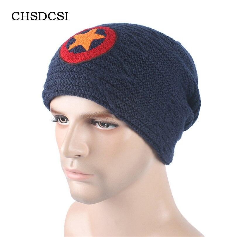 Hommes Bonnet de Velours Étoiles Marque Skullies Chapeau Bonnet Hiver Chaud  Tricoté laine Frange Chapeau De Bonnets Chapeaux Pour Hommes Gorros Carhart  ... 1e6c49bae30