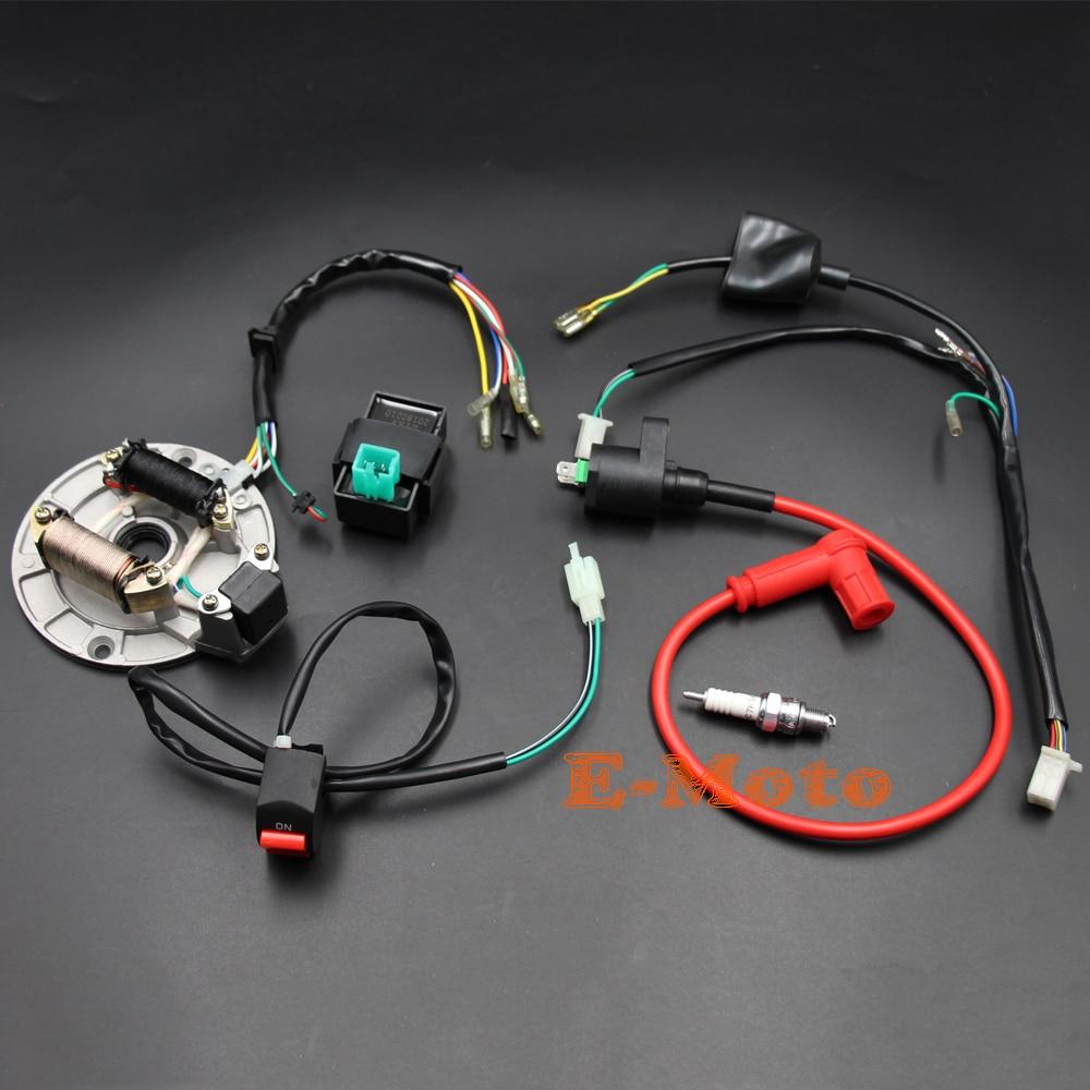 Complete Electrics Kick Start Only 50cc To 125cc Pit Dirt Bikes Stator