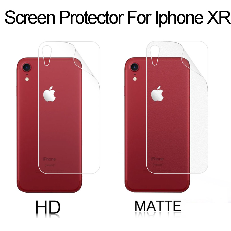 Glossy-Film Apple iPhone Lcd-Screen-Protector Back-Hd Anti-Fingerprint Matte XR for Film-Cover