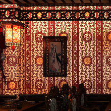 Chinese classical wallpaper imitation wood carving window pane wallpaper living room study hallway TV background wall covering недорого