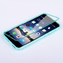 Fundas MEIZU M3 Note Чехол Флип Прозрачная Крышка Тпу Силиконовый Прозрачный Coque Meilan Note3 Carcasa Сенсорный Экран Протектор Телефон Сумка