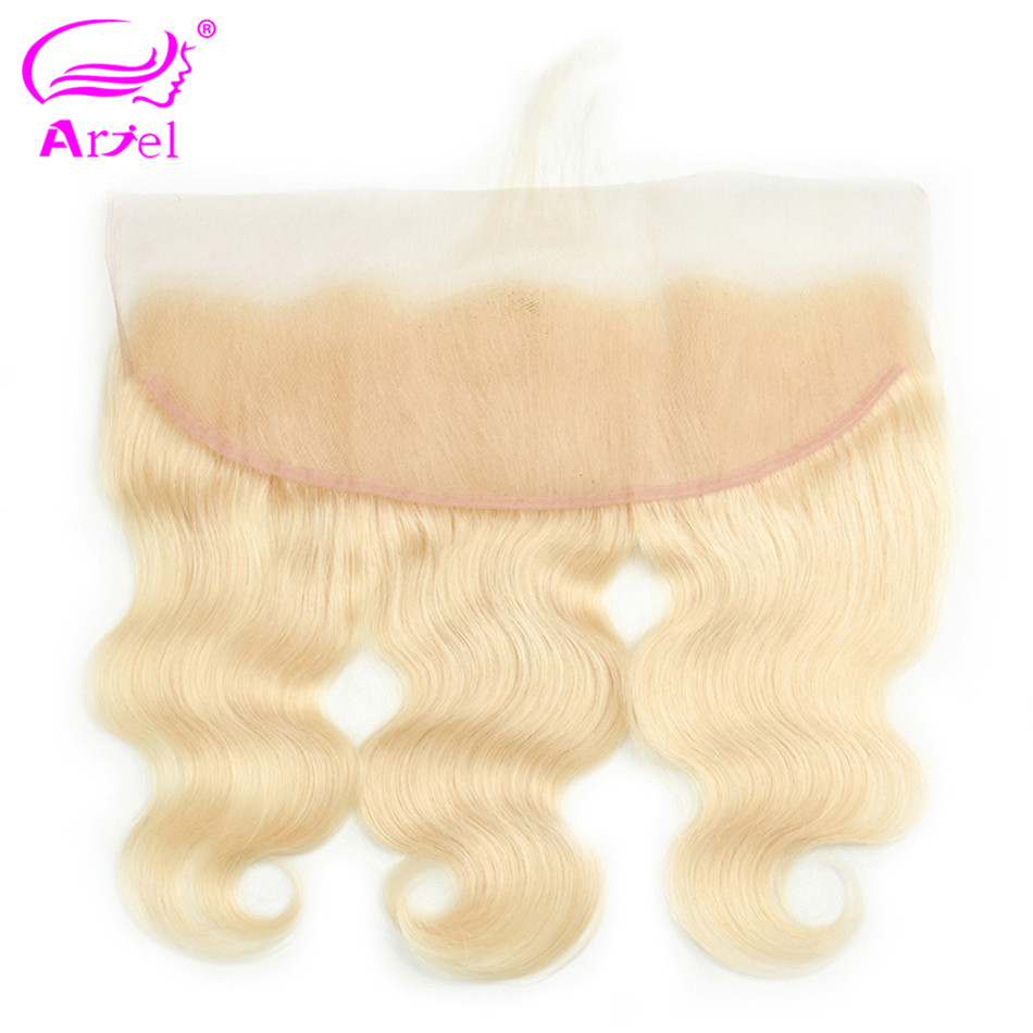 Image 2 - Brazilian Body Wave Frontal Closure 613 Frontal Closure Blonde Transparent Frontal 13x4 Remy Ear To Ear Lace Frontal Closure-in Closures from Hair Extensions & Wigs
