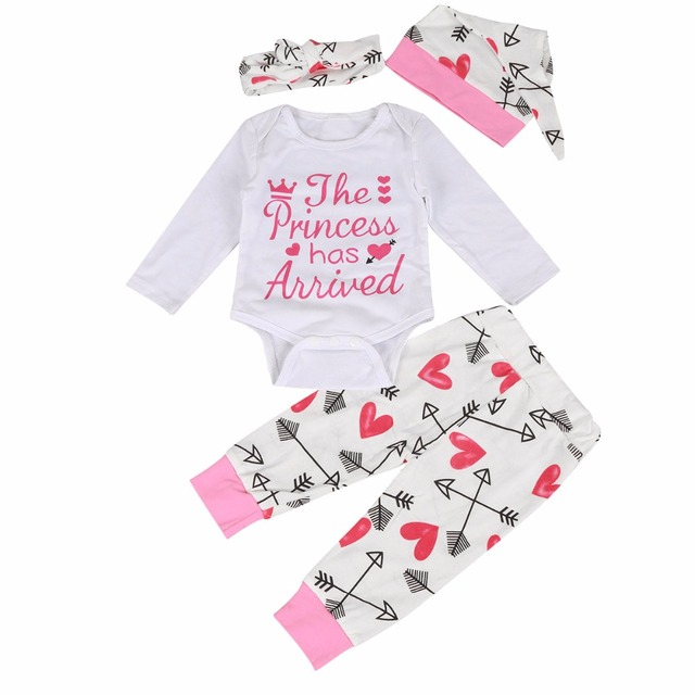 8e532fb610bc Puseky Newborn Baby Girls Outfit Clothes Jumpsuit Princess Arrived ...