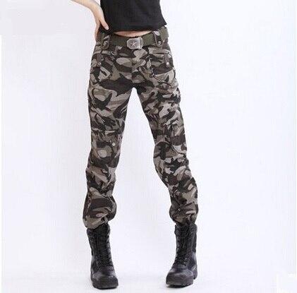Gratis Knight mujer ocasionales del algodón del camuflaje pantalones rectos  pantalones tácticos pantalones Cargo para mujer monos militares pantalones  ... 576554a4776a