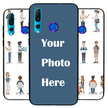 For Huawei Nova4 Custom Personalized Make your Photo pattern images Hard Body Soft Side Phone Case Cover