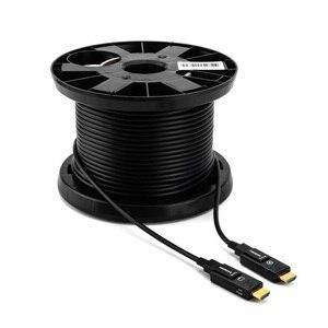 Image 5 - Detachable HDMI2.0 Fiber Optical Cable, Micro HDMI Type D+Type A, 18Gbps 4K 60Hz HDCP2.2 3D HDMI 10m 15M 20m 30m 40m 50m 100m