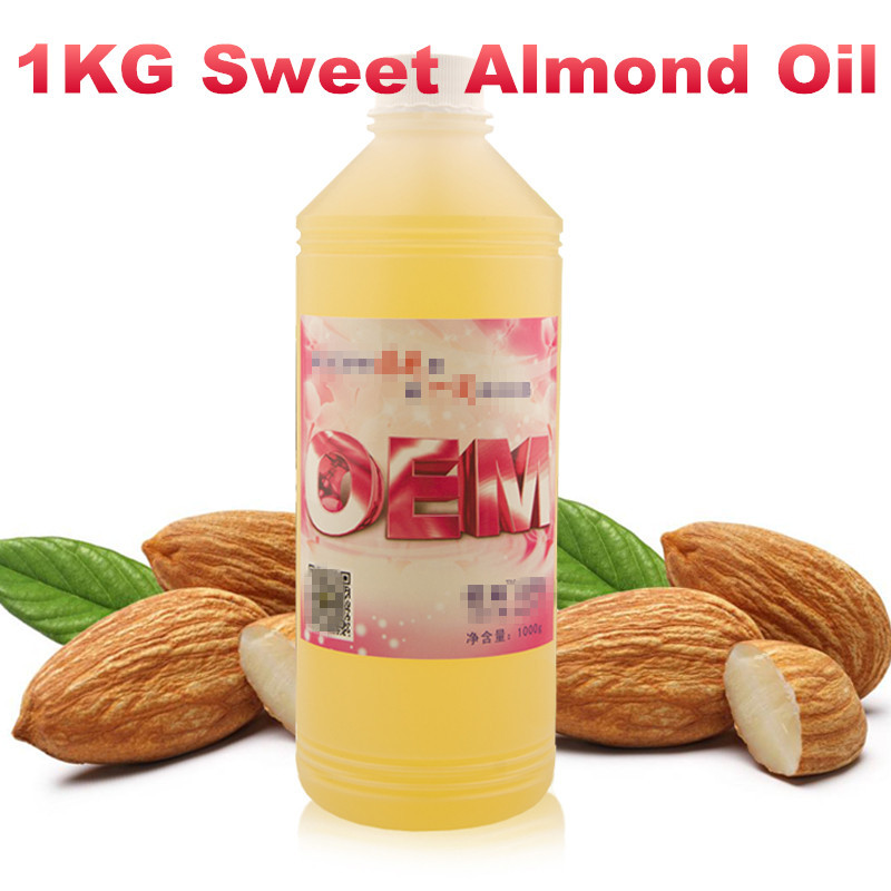 SPA Almond Sweet Oil Essential Natural Organic Oils 1000ml 1kg  Free Shipping Prunus Amygdalus Dulcis гель lavera silky shower cream with organic almond milk