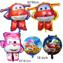 7 style 3D Super Wings Balloon Jett balloons 18 inch toys Birthday Party Decorations kids globos supplies