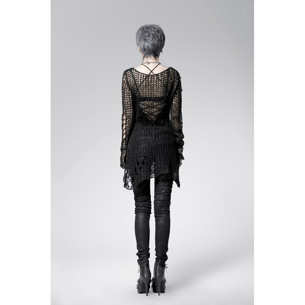 Punk Gothic SWEATER Visual Kei mode Kera Black Shirt Top TOP Black - Dametøj - Foto 4