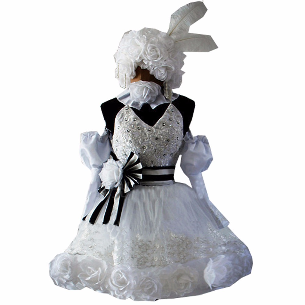 2018 Cosplay Anime Kuroshitsuji Black Butler Ciel Phantomhive Circus Doll Lolita Party Dress Cosplay Costume Any Size