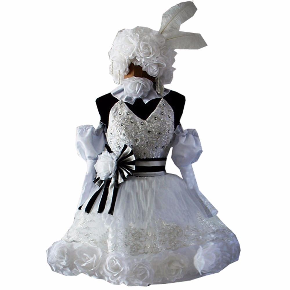 2018 Cosplay Anime Kuroshitsuji Black Butler Ciel Phantomhive Circus Doll Lolita Party Dress Cosplay Costume Any Size