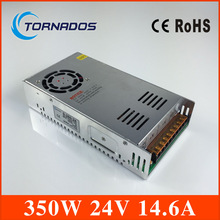 (S-350-24) Two Years warranty  Single Output Switch Power Supply 24V 14.6A 350W for CNC Machine DIY, LED , Etc.. Free Shipping