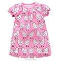New 2017 Brand Quality 100% Cotton Baby Girls Dresses Summer Little Dress Children Clothing Kids Clothes Summer Baby Dress Girls