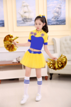 2018 new childrens cheerleading costume aerobics dance Girl CHEERLEADING SKIRT boy cosplay costumes sports cheerleaders