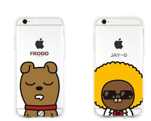 Kakao Pop Music Korea Cartoon Characters Phone case Cover For iPhone 7Plus 7  6Plus 6S 5S 4 SE 5C Samsung Galaxy