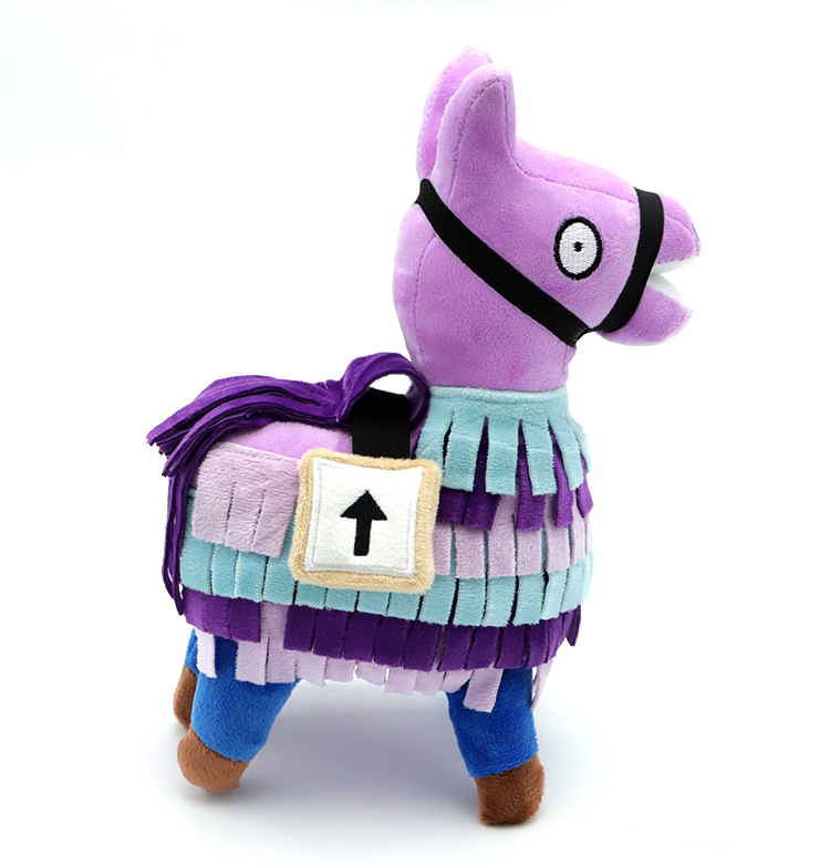 20-34cm Fortress Night Hot Game Plush Toy Troll Stash Llama Soft Alpaca Rainbow Horse Stash Stuffed Toys Christmas Gift Packs