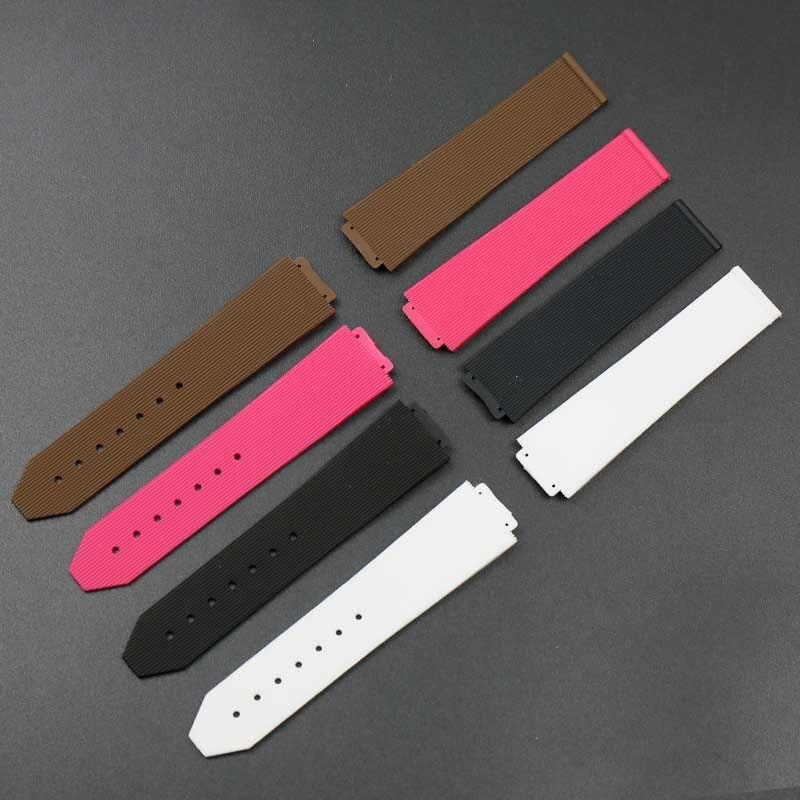 Pulseira de silicone das mulheres 15mm x 21mm para Hublot strap pulseira de borracha à prova d' água esportes relógio acessórios