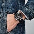 Мужские часы BENYAR 2019  Брендовые спортивные водонепроницаемые кварцевые часы с хронографом из кожи  Relogio Masculino relojes para hombre BY-5102M