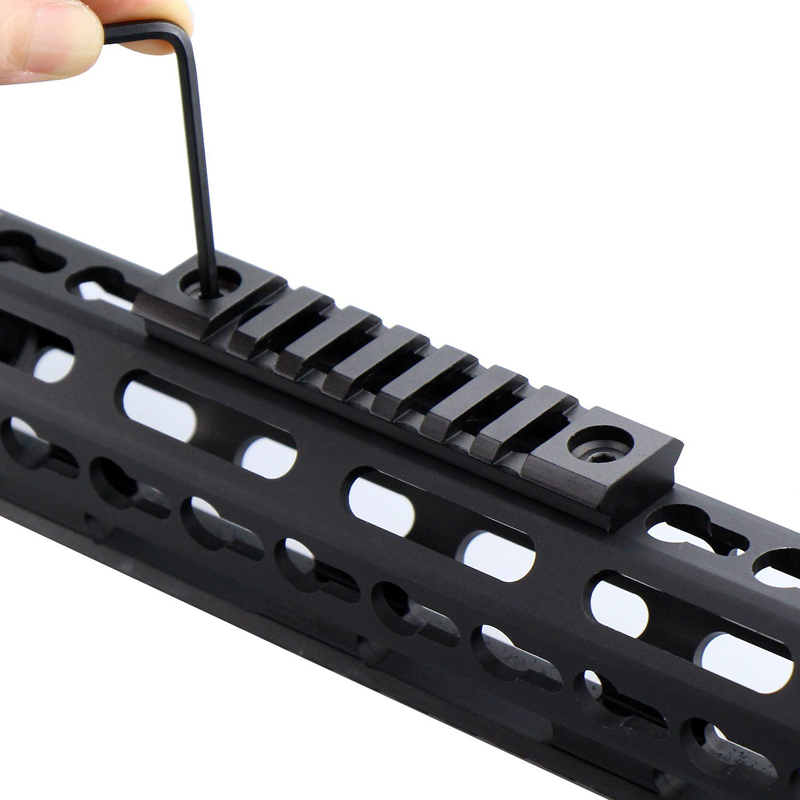 Image 5 - Hunting Accessories Tactical Mount Rail Lightweight Picatinny Rail Section 3/5/7 Slot KeyMod Rail for Keymod Handguard Mount-in Hunting Gun Accessories from Sports & Entertainment