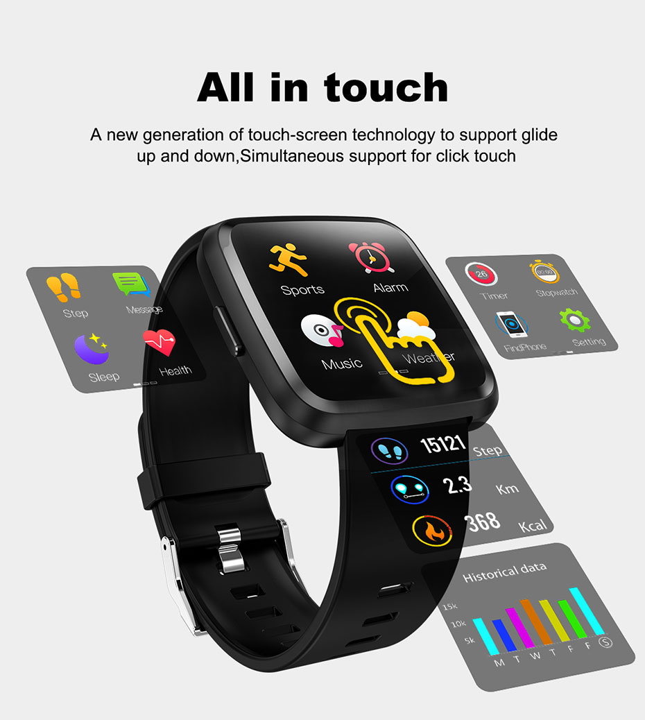 COLMI CY7 PRO Smart watch Full screen touch IP67 waterproof Bluetooth Sport fitness tracker Smartwatch For IOS Android Phone 2