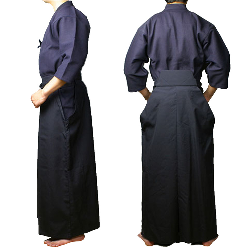 Vêtements d'arts martiaux Kendo aïkido Hapkido Arts martiaux Keikogi et Hakama costume hommes femmes bleu marine - 2
