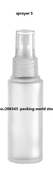 30 мл матовое стекло бутылки с пластиковый насос/распылитель для лосьон/эмульсия/сыворотка/Фонд/тонер /опрыскиватель уход за кожей упаковка - Цвет: sprayer 5
