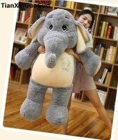 Мягкие плюшевые игрушки огромный 125 см Прекрасный мультфильм Серый слон Плюшевые игрушки Мягкая кукла обниматься подарок на день рождения