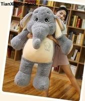 stuffed plush toy huge 125cm lovely cartoon gray elephant plush toy soft doll hugging pillow birthday gift s0842