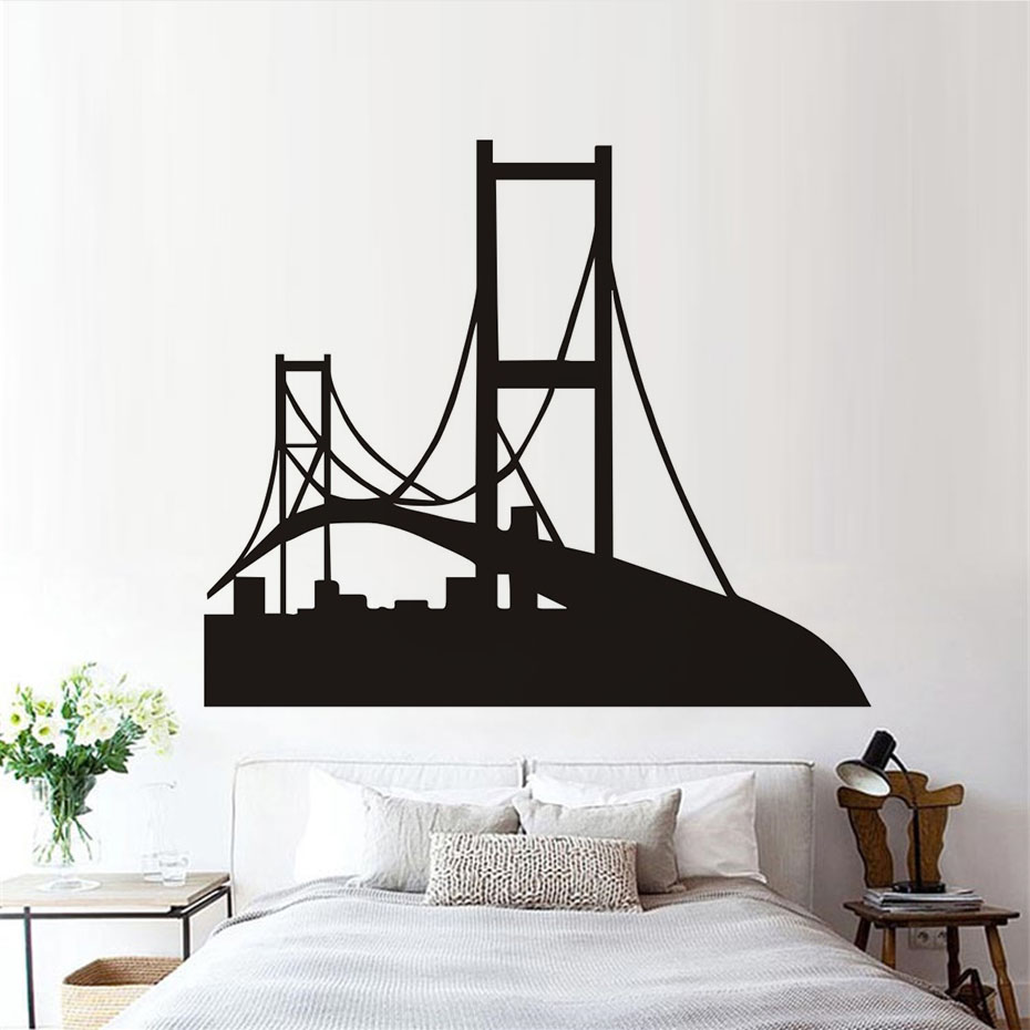 San Francisco Silhouette Wall Decal