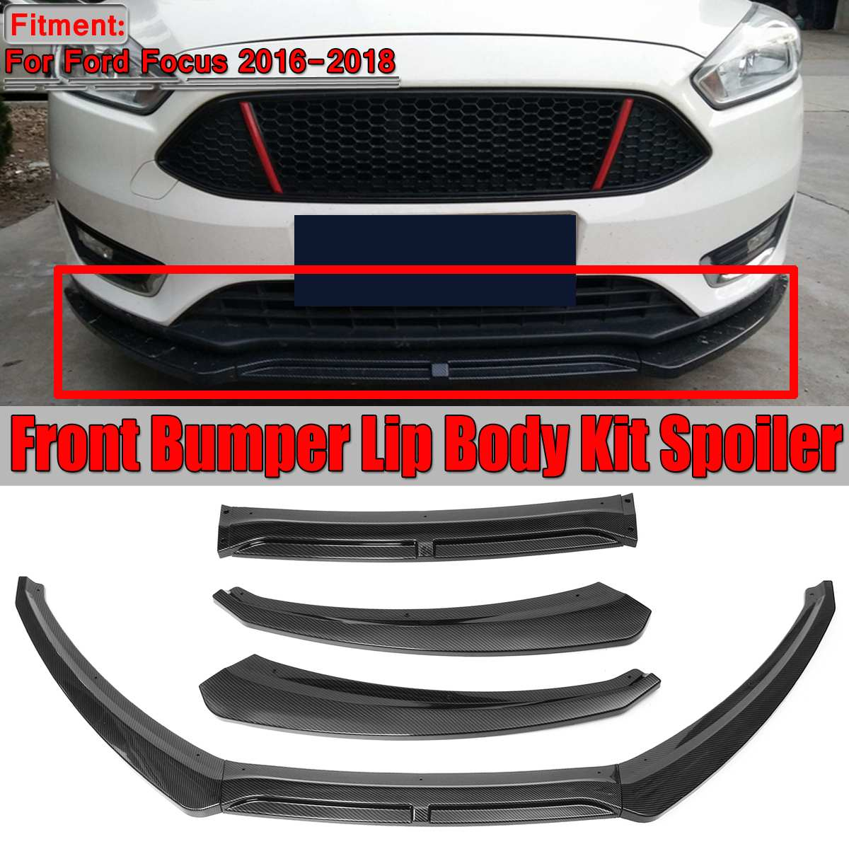 3DC Urethane Rear Lip Valance For Ford Fusion 13-14