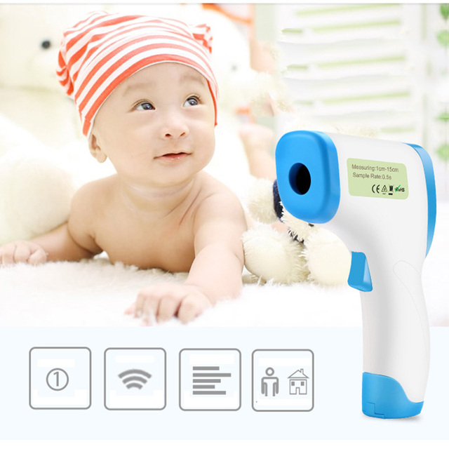 Baby Care Infrared Electronic Digital Thermometer Gun Non-Contact IR Forehead infant Ear Temperature Measurement Termometro 3