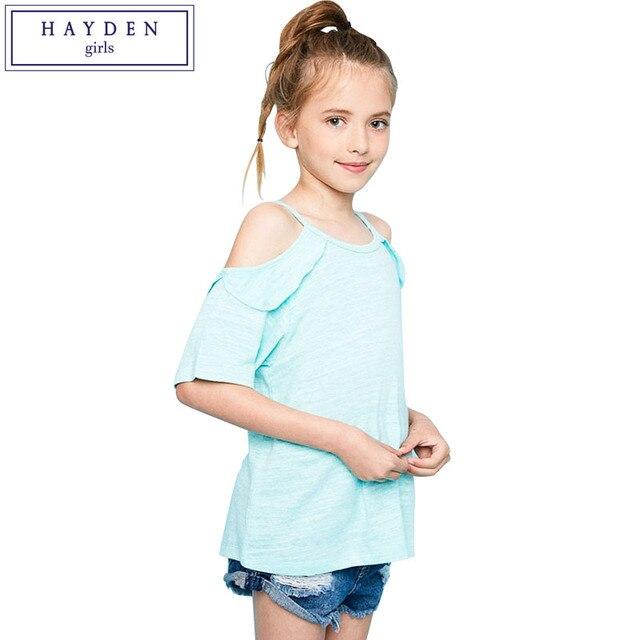 da14a272bad2 HAYDEN Girls Cold Shoulder Tops and Blouses Summer 2017 Brand ...