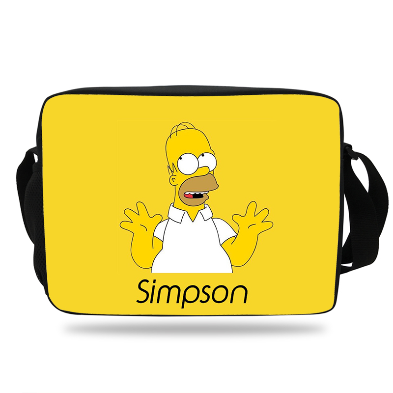 Fashion The Simpsons School Shoulder Messenger Bag For Kids Boys Girls character homer&marge Print Shoulder Bag For Mens womens messenger bag