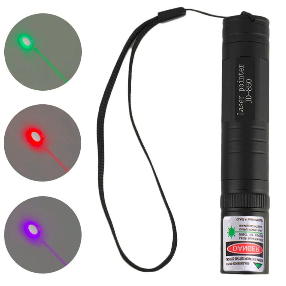 Outdoor Portable 3 Colors 10M Waterproof Laser Pointer Pen High Power 532nm 850 Visible Beam Bright Light Red Green Purple