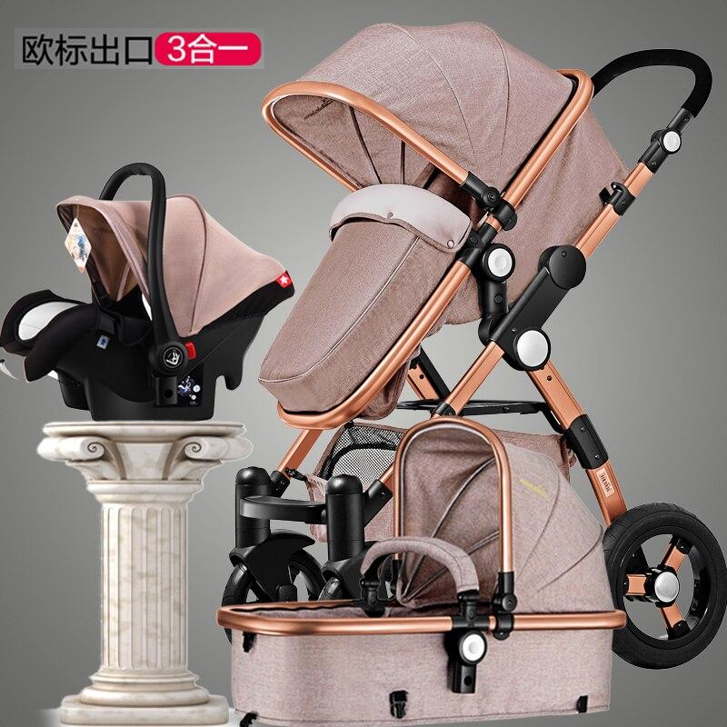 pram four-wheel baby stroller manufacturers selling European summer and winter buggies dual-purpose baby cart pinturicchio centenarian four wheel baby stroller baby newborn buggiest shock absorbers dual