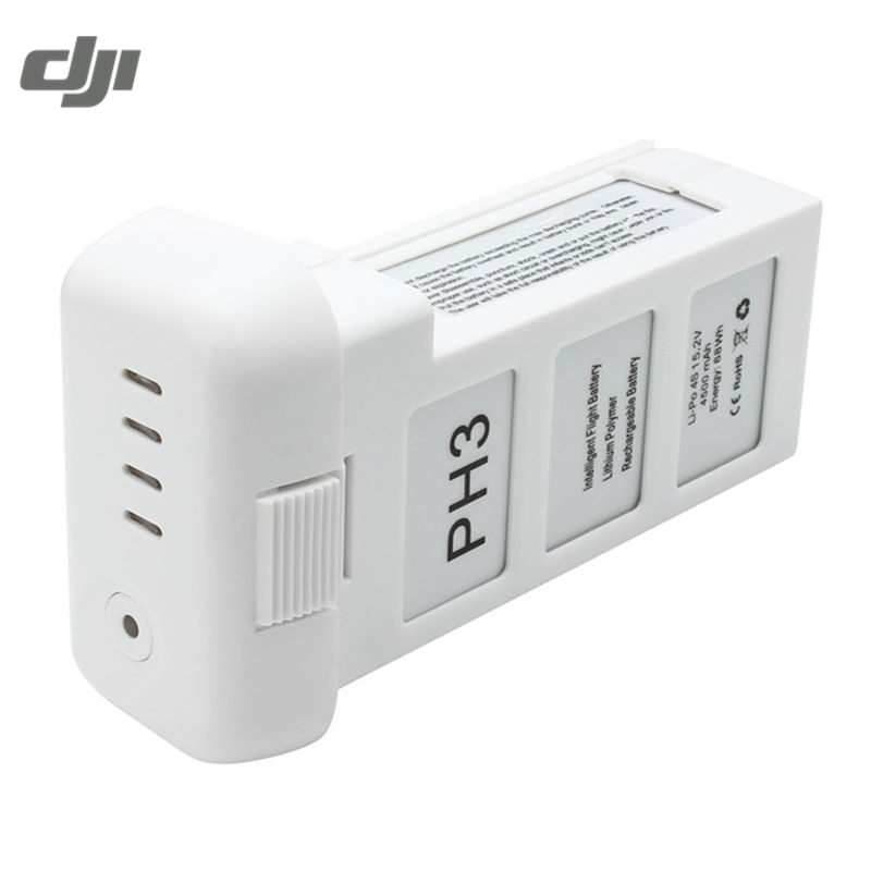 DJI Phantom 3 Professional Advance Standard Version 4500mAh 15.2V 4S Intelligent Battery For FPV Racing RC Camera Drone With Bag аккумулятор dji battery lipo 15 2v 4480 mah 4s for phantom 3