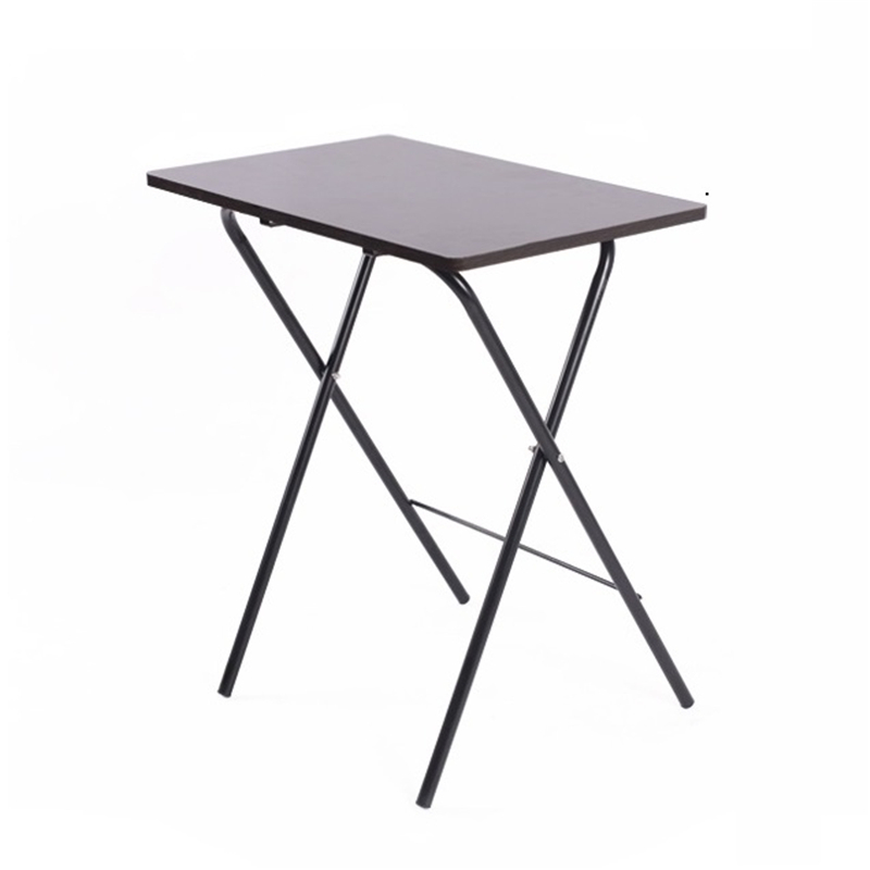 X#6420 The Chinese house is not installed with simple folding small desk, laptop table, and use FREE SHIPPING simple fashion table desktop is mdf fine processing the leg of the table is made of solid beech black and white can be chosen