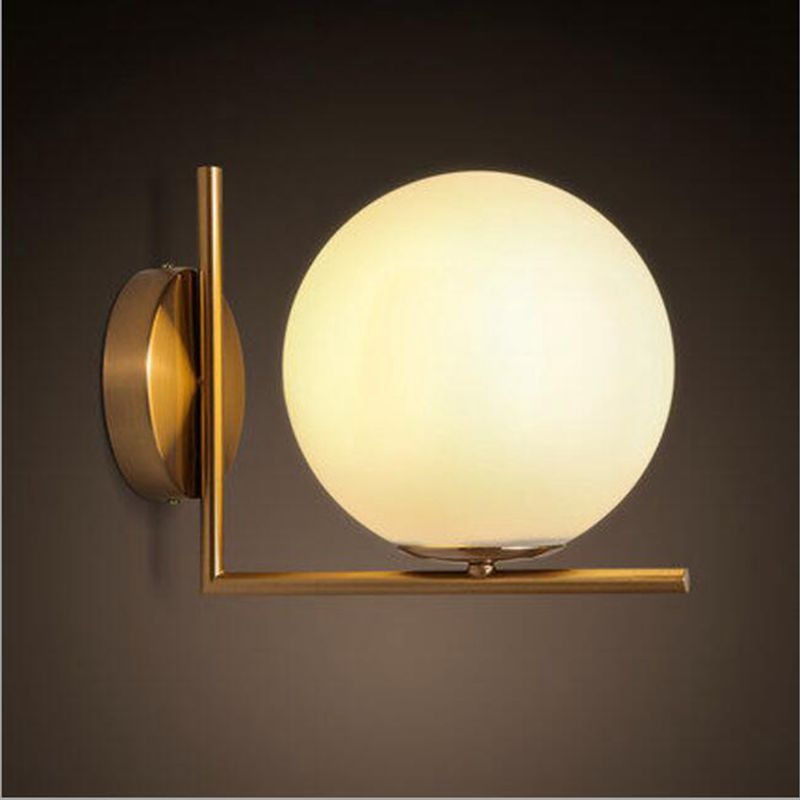 Modern Wall Lamp Wall Light Indoor LED Glass Ball Wall Lamps for Bedroom Bedside Home Lighting