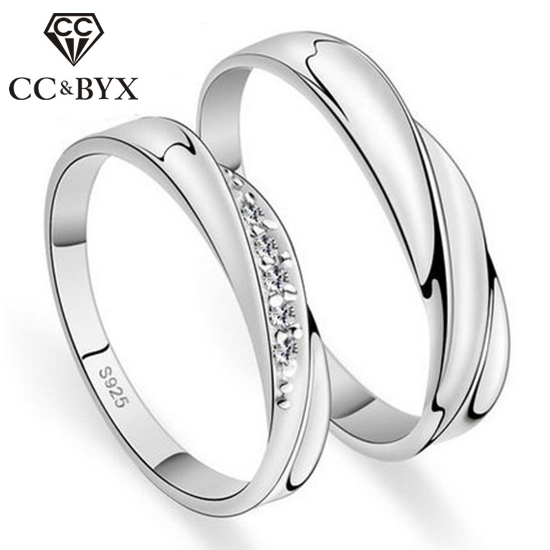 <font><b>Couple</b></font> <font><b>Rings</b></font> For Lovers Cincin Wanita Wedding Engagement Promise <font><b>Rings</b></font> <font><b>Set</b></font> Bague Bijoux Accessories Fashion Jewelry CC109 image