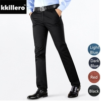 High Quality Men S Twill Pants Basic Styles Stretch Classic Black Skinny Slim Fit Chinos Casual