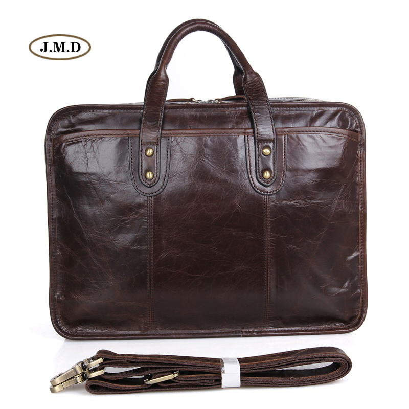 J.M.D New Arrivals Genuine Cow Leather Mens Fashion Handbag Business Large-capacity 15 inches Laptop Bag Shoulder Bag 7345CJ.M.D New Arrivals Genuine Cow Leather Mens Fashion Handbag Business Large-capacity 15 inches Laptop Bag Shoulder Bag 7345C
