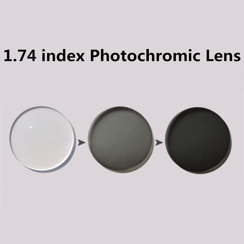 86d2d7dd93 Langford brand 1.74 index photochromic lens prescription lens Transition  Grey Lenses for Myopia Hyperopia Sunglasses lens-in Accessories from  Apparel ...