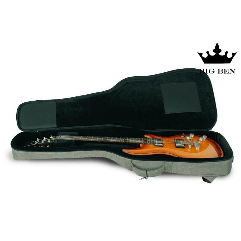 Normal electric guitar case chocolate color prevent shock proof waterproof guitar bag all round protection standing