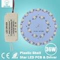 1W3W5W7W9W12W15W18W21W24W30W36W Estrela painel de bordo chip de alta potência LED spot light bulb + LED reservatório de plástico fonte de alimentação motorista