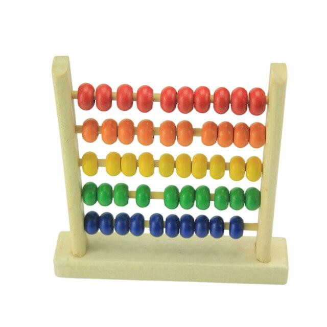 Мини Abacus Игрушки Развивающие Игрушки для Детей детские Деревянные Игрушки Раннего Обучения Игрушки