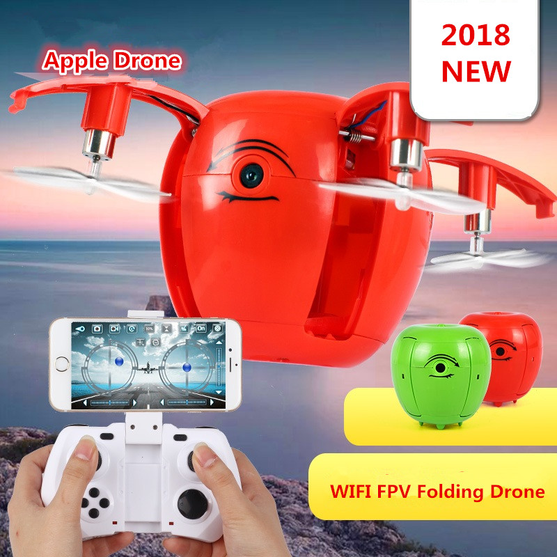 Newest apple shape foldable WIFI FPV RC Drone RC130 2.4G Apple Quadcopter With 6Axis gryo with 720P WiFi HD camera RC drones