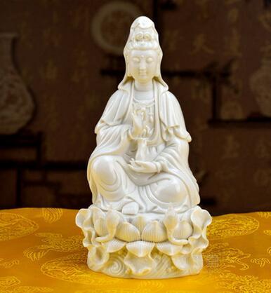 Goddess of mercy Buddha ceramics handicraft furnishing articles 8 inches by GuLian guanyin bodhisattva goddess goddess buddha   - title=
