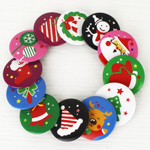 30pcs/lot Christmas Brooch Pin Badge Snowman Santa Claus Bear Tree Hat Multi Color For Kids Gift XMAS Decor Wedding Birthday DIY