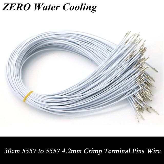 Online Shop 50pcs/Lot 30cm White Color UL1007 18AWG ATX / PCI-E ...